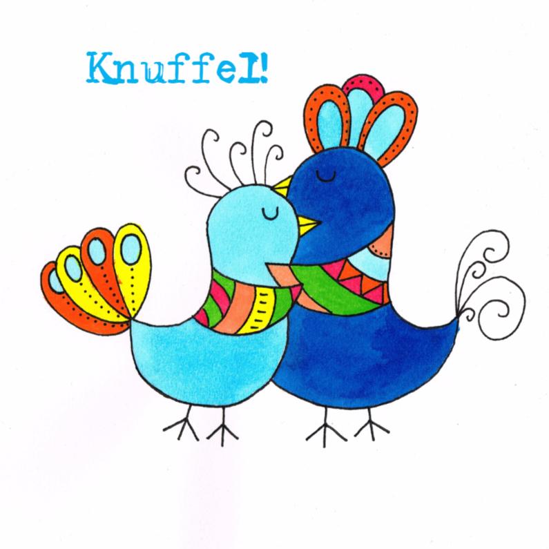 Felicitatiekaarten - Vogel Knuffel kaart 2