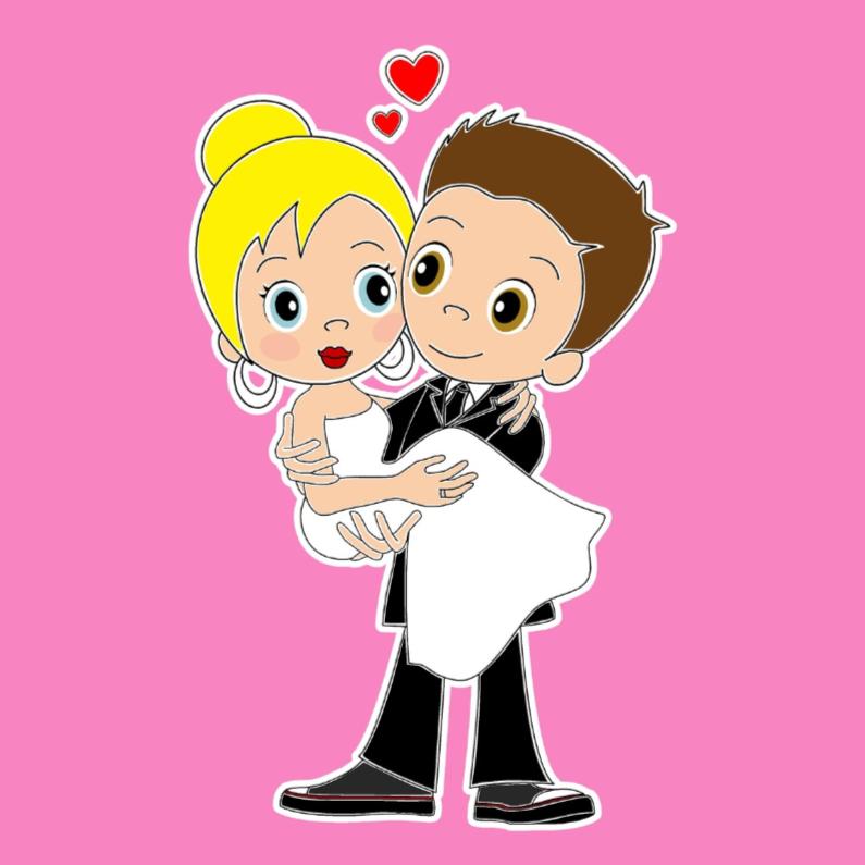 Felicitatiekaarten - Vrolijk bruidspaar- EvG