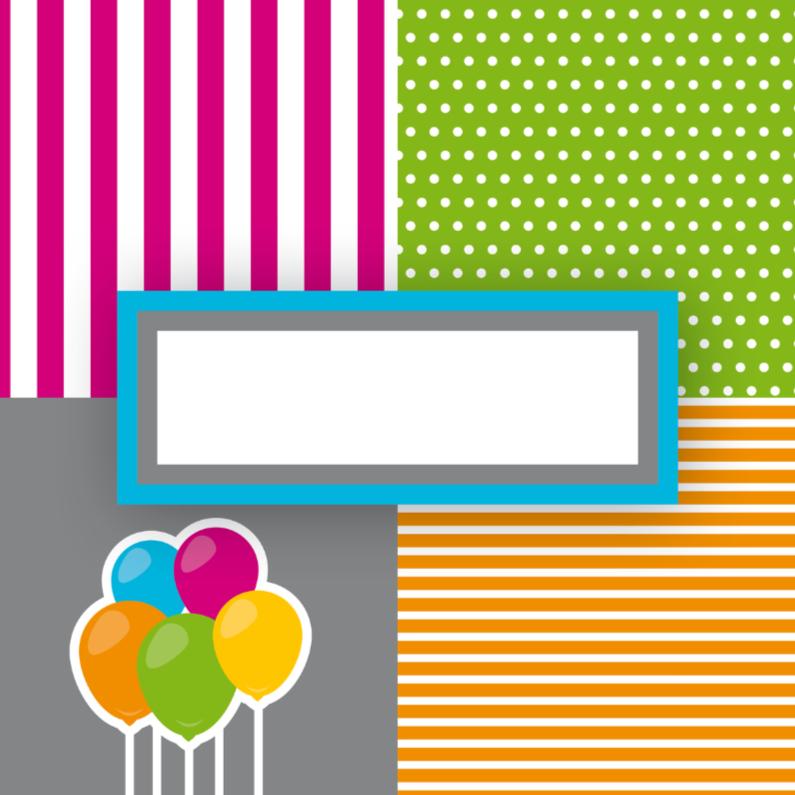 Felicitatiekaarten - vrolijk gefeliciteerd 21