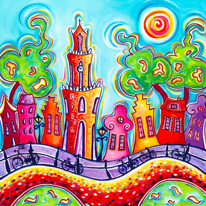 Felicitatiekaarten - vrolijke  stad