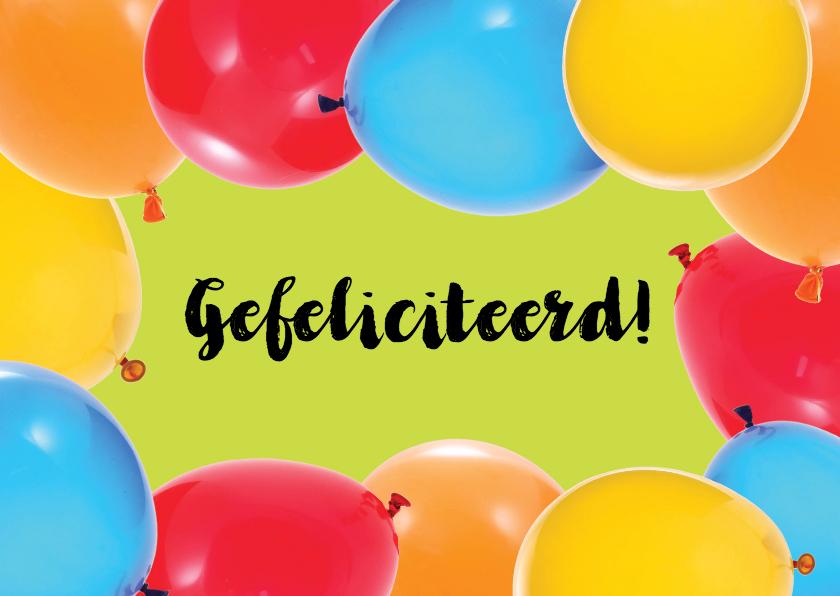 Felicitatiekaarten - Vrolijke Felicitatie Ballonnen