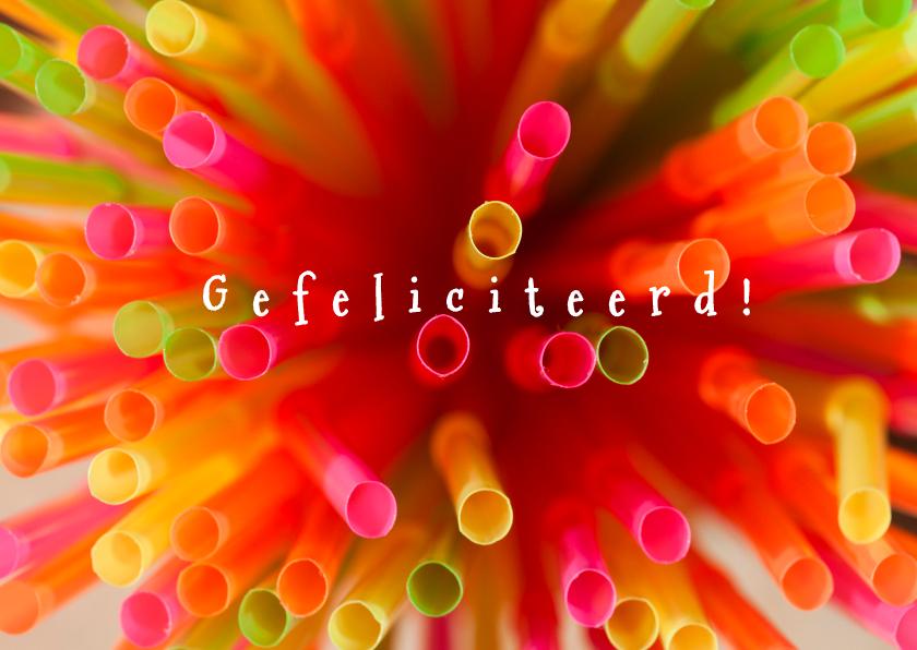 Felicitatiekaarten - vrolijke rietjes
