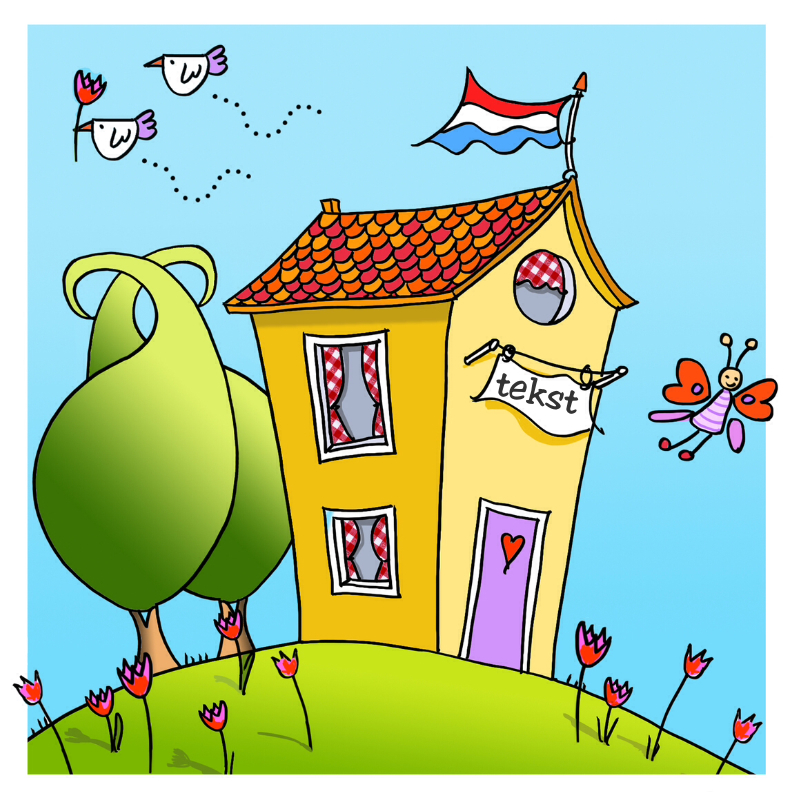 Felicitatiekaarten - Vrolijke verhuiskaart
