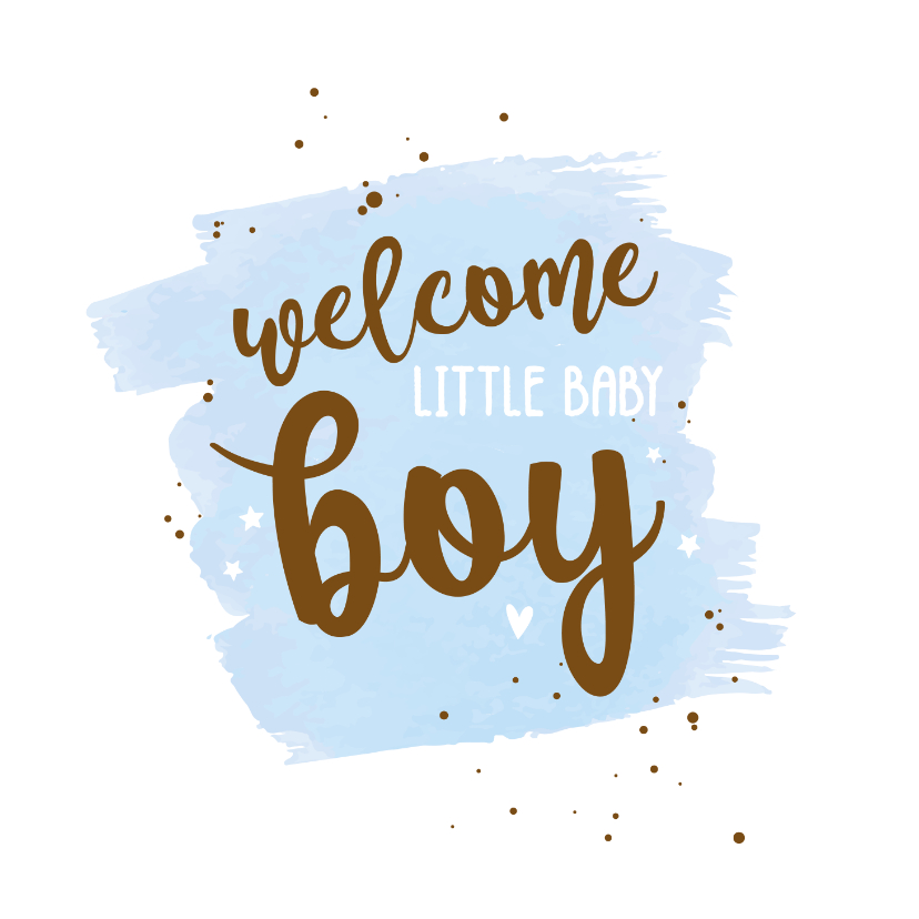 Felicitatiekaarten - Welcome little baby boy - happy felicitatiekaart
