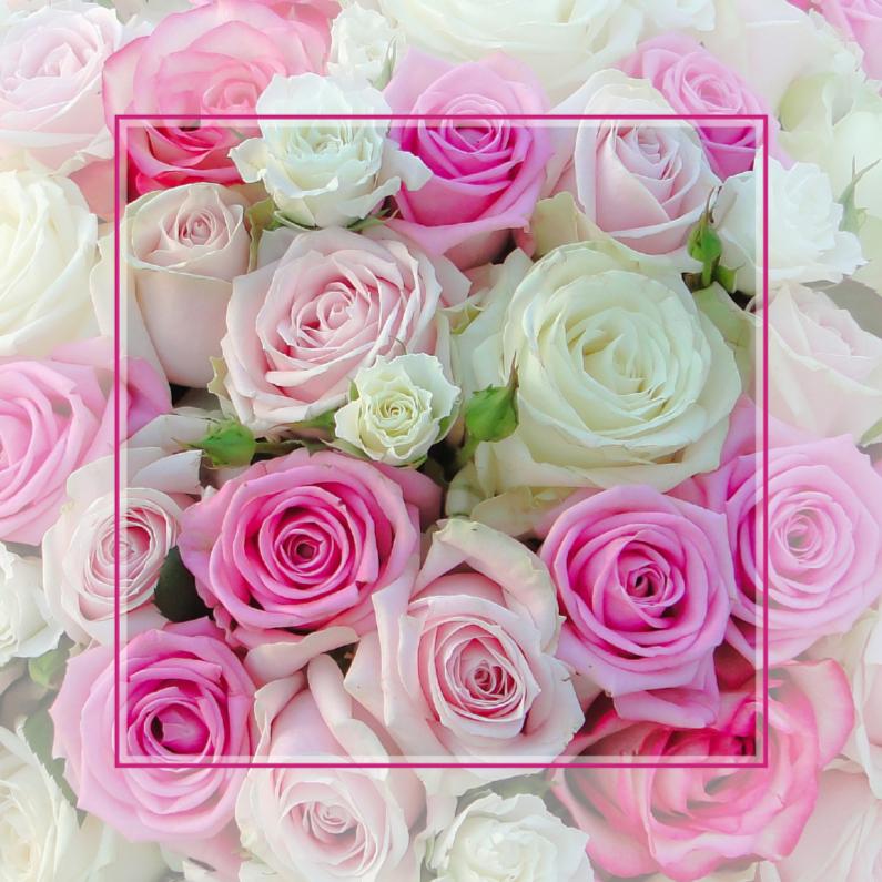 Felicitatiekaarten - Wens met rozen