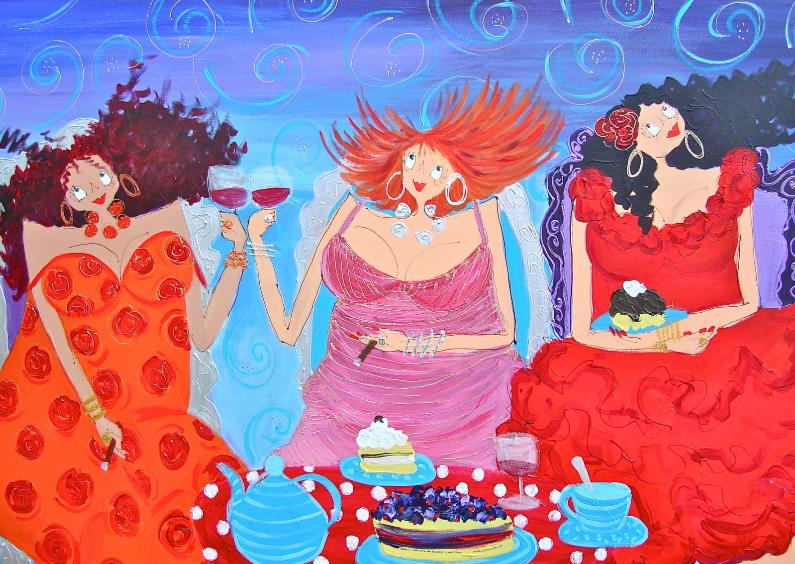 Felicitatiekaarten - Wine on Sunday