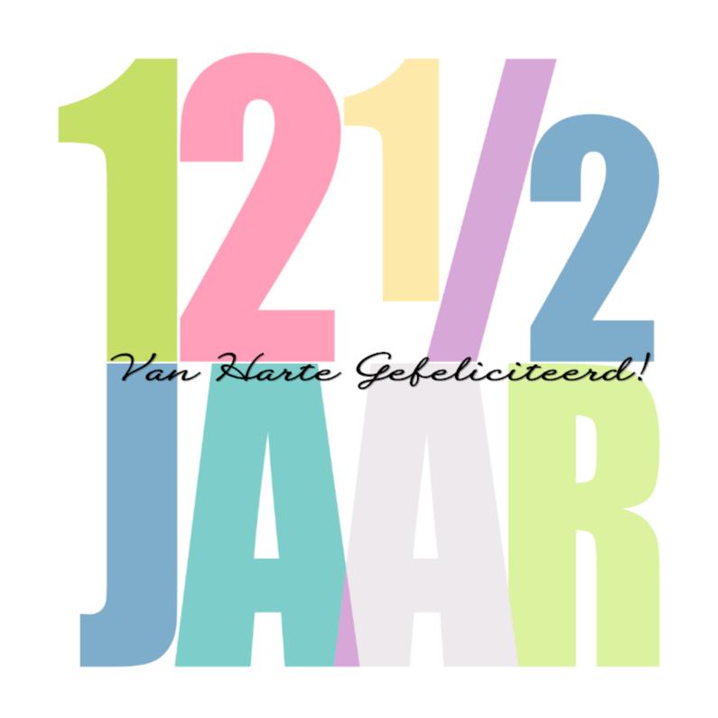 Felicitatiekaarten - Woorden 12 1/2 Jaar - BK