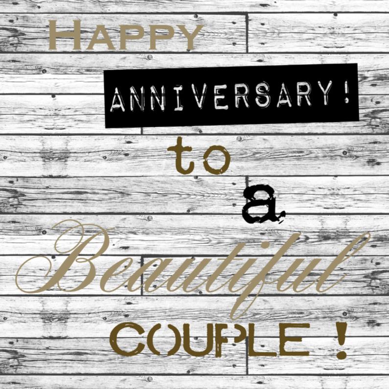 Felicitatiekaarten - Woorden Anniversary - BK