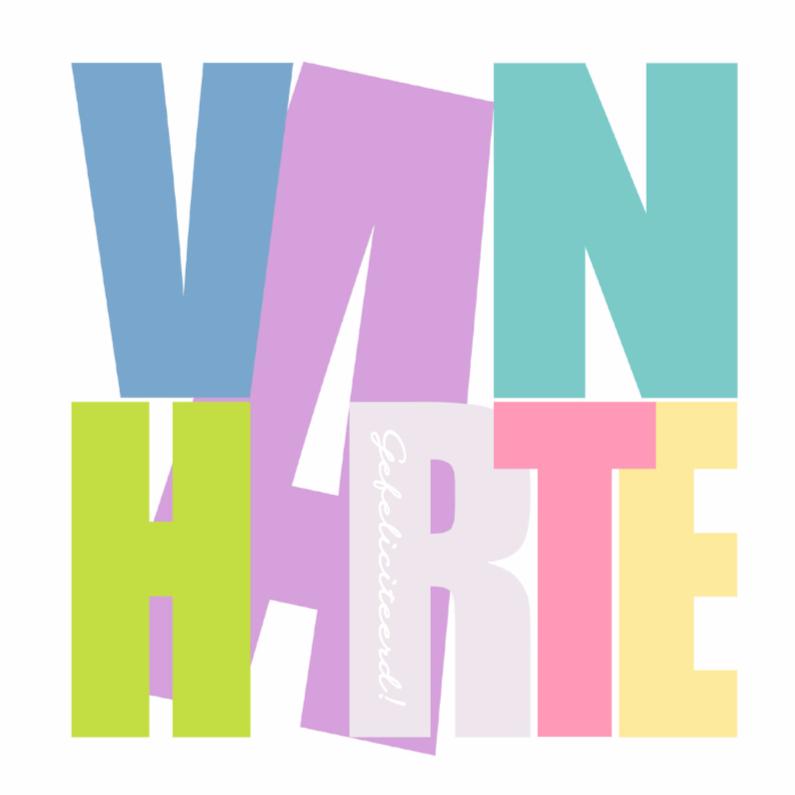 Felicitatiekaarten - Woorden Van Harte - BK