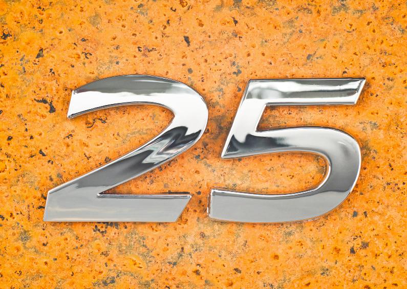 Felicitatiekaarten - Zilveren bruiloft - 25 jaar getrouwd