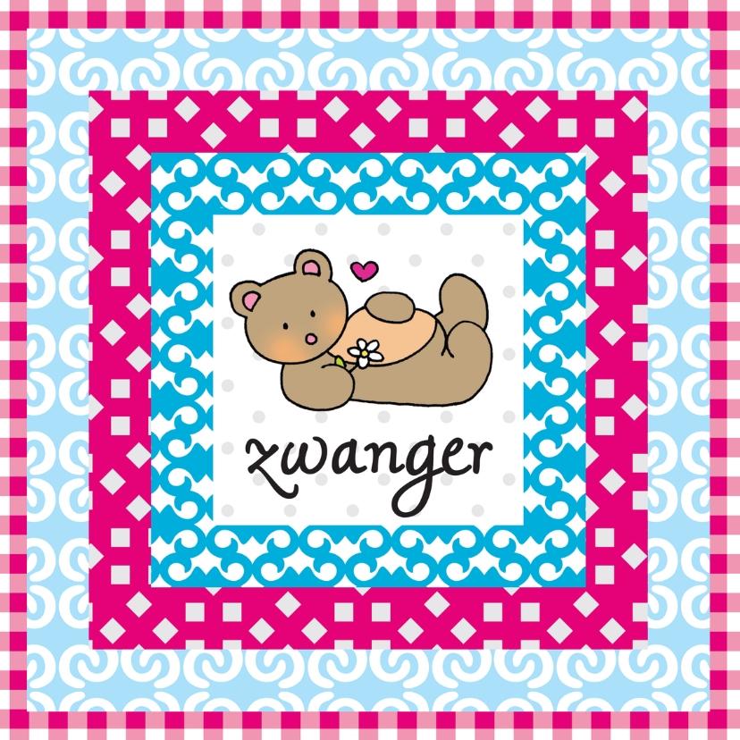 Felicitatiekaarten - zwanger BEER