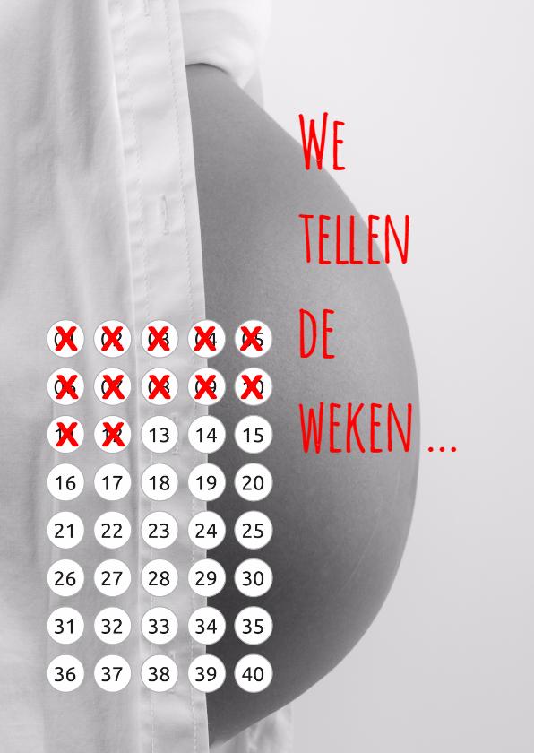 Felicitatiekaarten - Zwangerschap kalender