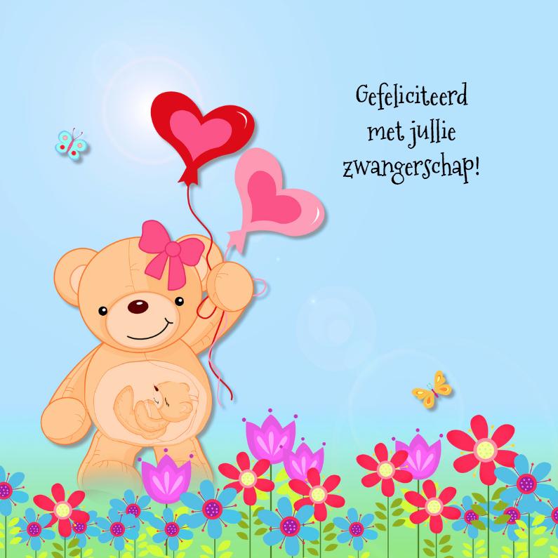 Felicitatiekaarten - Zwangerschap met beer