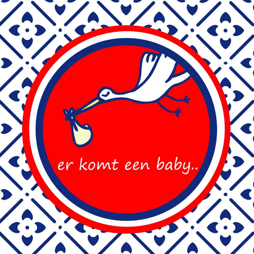 Felicitatiekaarten - Zwangerschapskaart Er komt een baby
