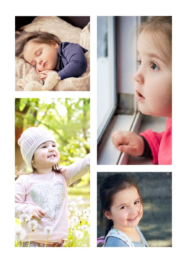 Fotokaarten - Collage Kinderfeestje met 4 foto's