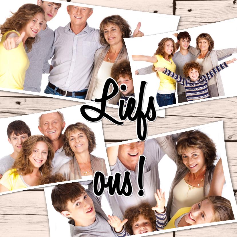 Fotokaarten - Collage Liefs ons! - BK