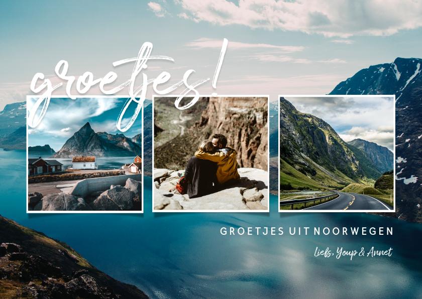Fotokaarten - Collagekaart 'groetjes!' met fotocollage