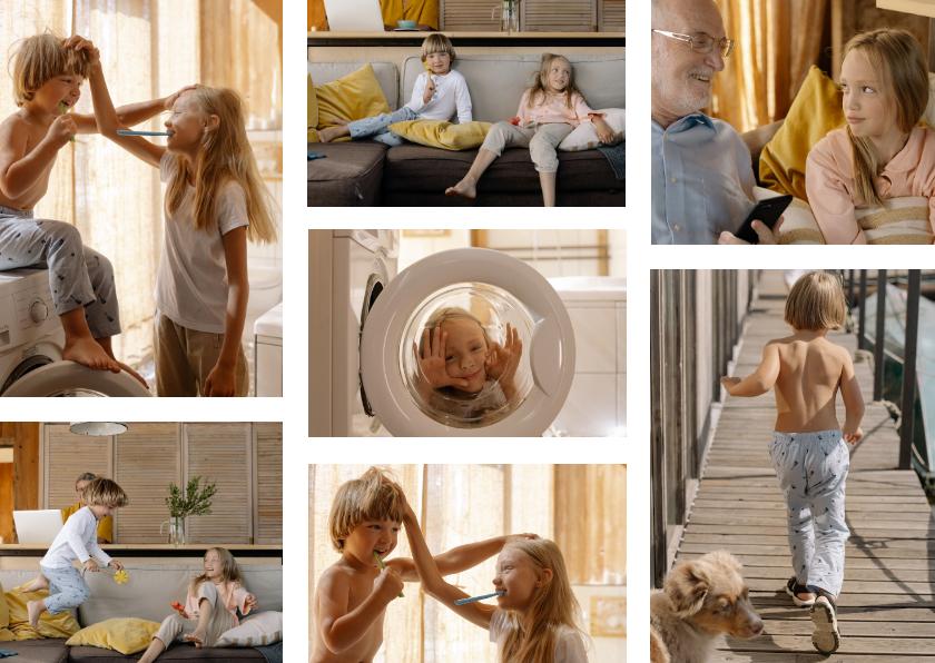 Fotokaarten - Collagekaart met 7 foto's liggend