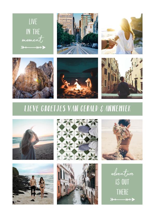 Fotokaarten - fotocollage 'Live in the moment'