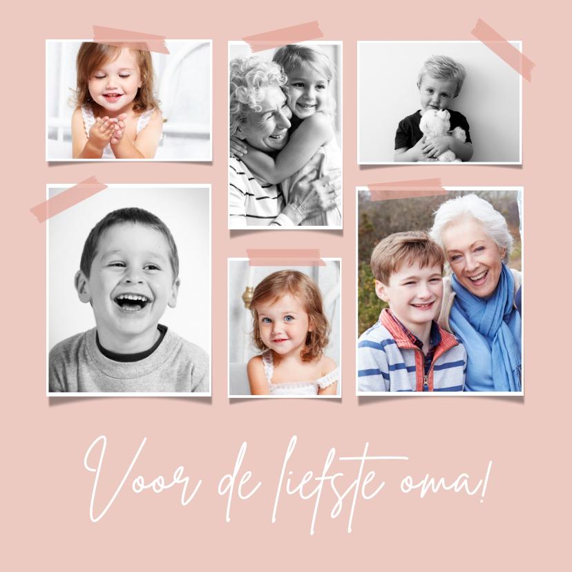 Fotokaarten - Fotocollage stijlvolle kaart voor oma