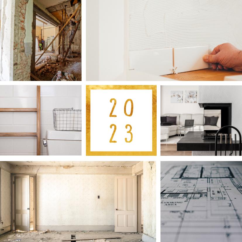Fotokaarten - Fotokaart '2022' met 6 foto's vierkant