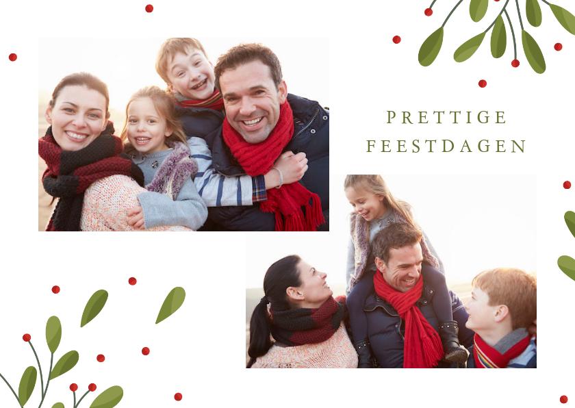 Fotokaarten - Fotokaart collage met 2 foto's takjes en besjes