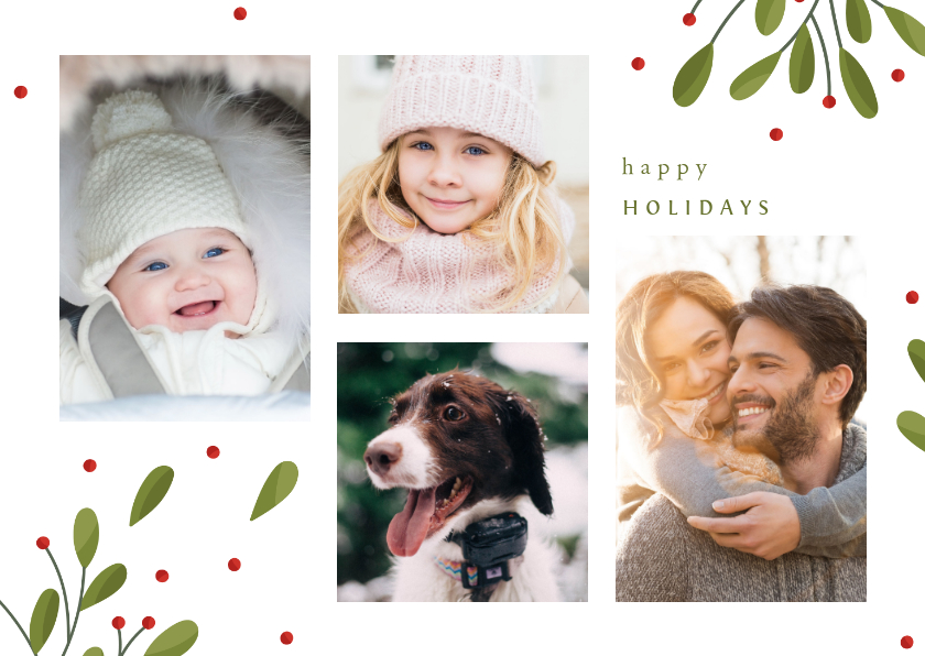 Fotokaarten - Fotokaart collage met takjes en besjes