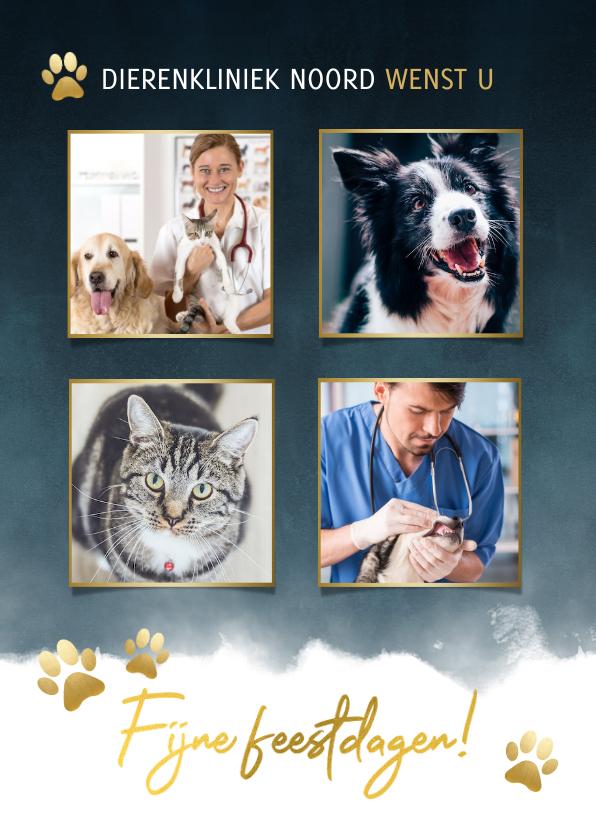 Fotokaarten - Fotokaart dierenverzorging met foto's en pootjes