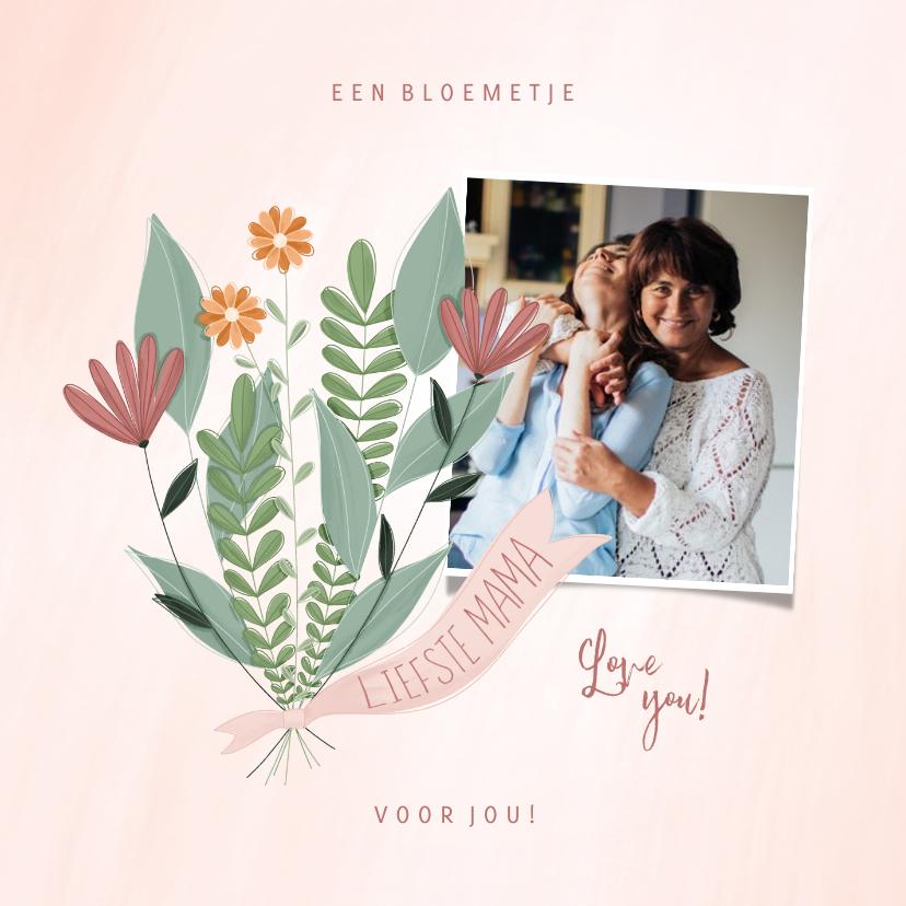 Fotokaarten - Fotokaart een bloemetje voor jou