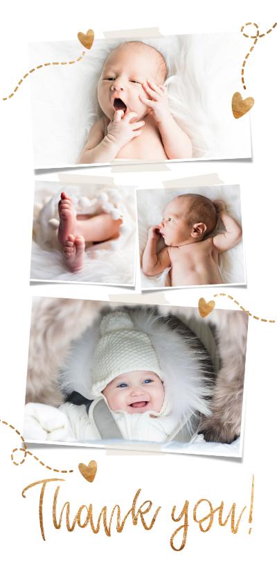 Fotokaarten - Fotokaart eigen foto's 'Thank you'