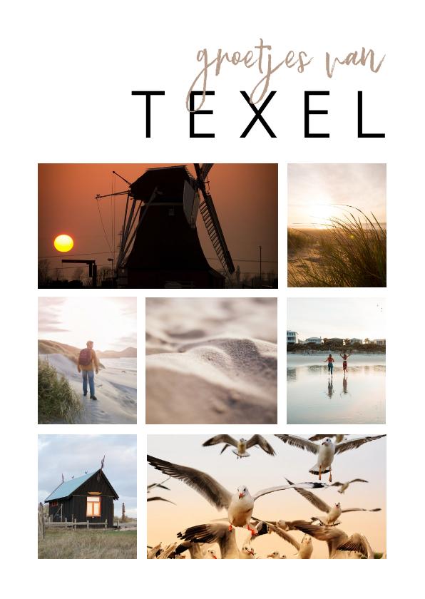 Fotokaarten - Fotokaart fotocollage 7 foto's aanpasbaar