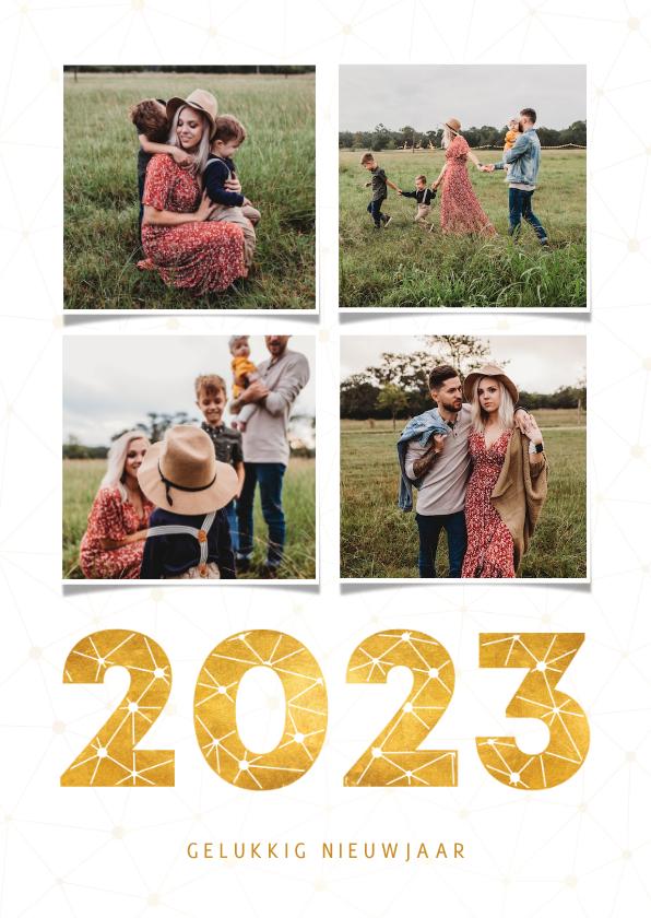 Fotokaarten - Fotokaart fotocollage gouden 2022