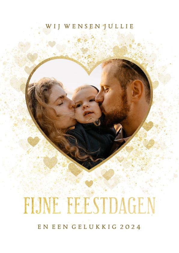 Fotokaarten - Fotokaart gouden hart liefdevol