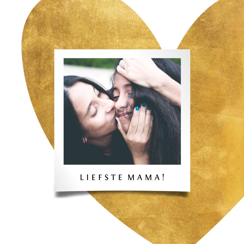 Fotokaarten - Fotokaart gouden hart met foto