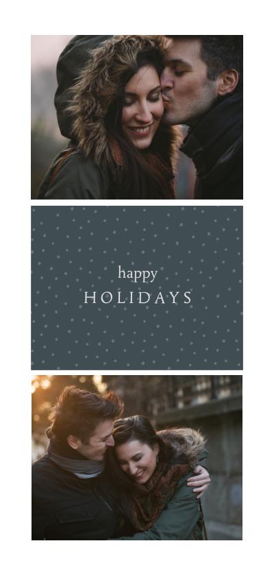 Fotokaarten - Fotokaart 'happy holidays' met foto's en stippen