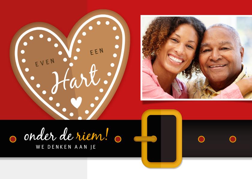 Fotokaarten - Fotokaart - hart onder de riem van de kerstman met foto