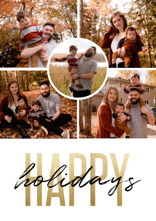 Fotokaarten - Fotokaart holidays goudlook fotocollage