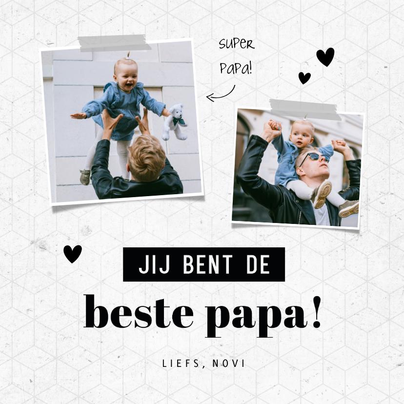 Fotokaarten - Fotokaart jij bent de beste papa grafisch