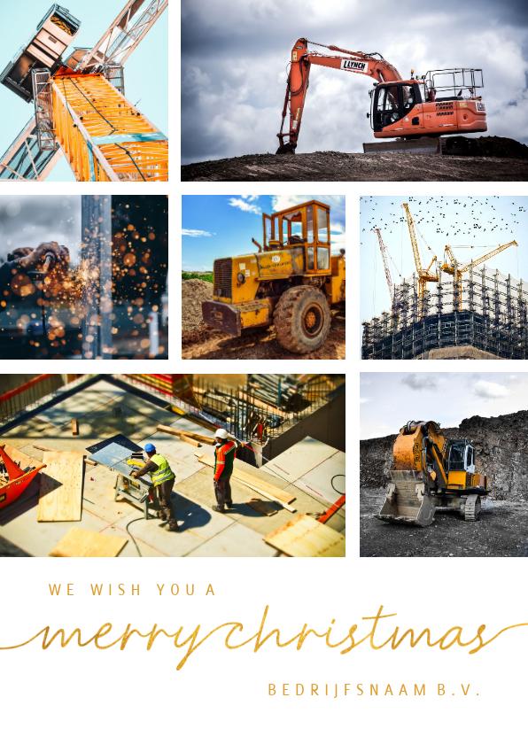 Fotokaarten - Fotokaart kaart bouw 7 foto's gouden tekst