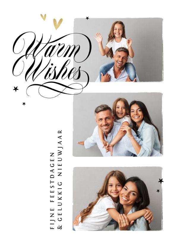Fotokaarten - Fotokaart kerst nieuwjaar fijne feestdagen warm wishes