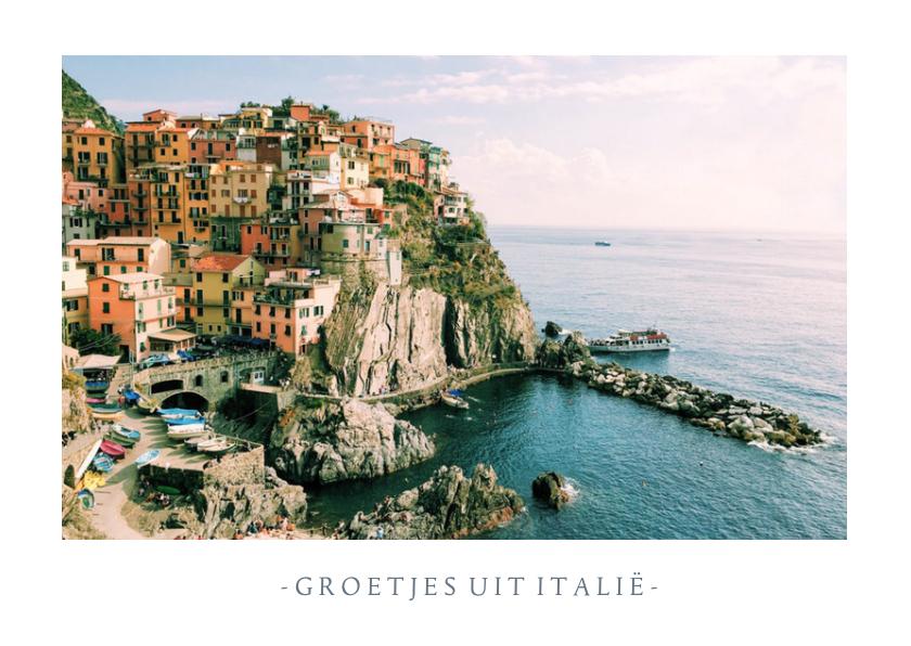 Fotokaarten - Fotokaart met 1 grote foto en aanpasbare tekst - vakantie