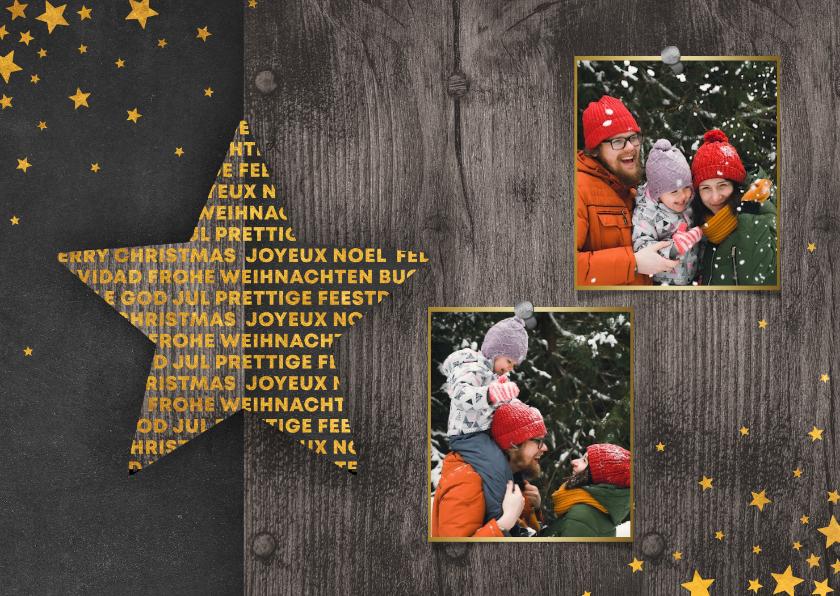 Fotokaarten - Fotokaart met 2 foto's meertalig sterren