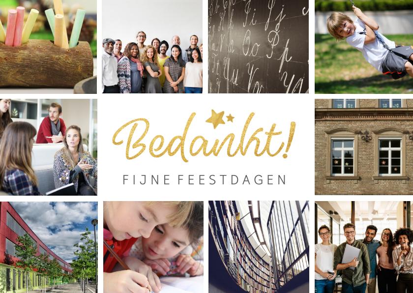 Fotokaarten - fotokaart met collage van 10 eigen foto's en bedankt