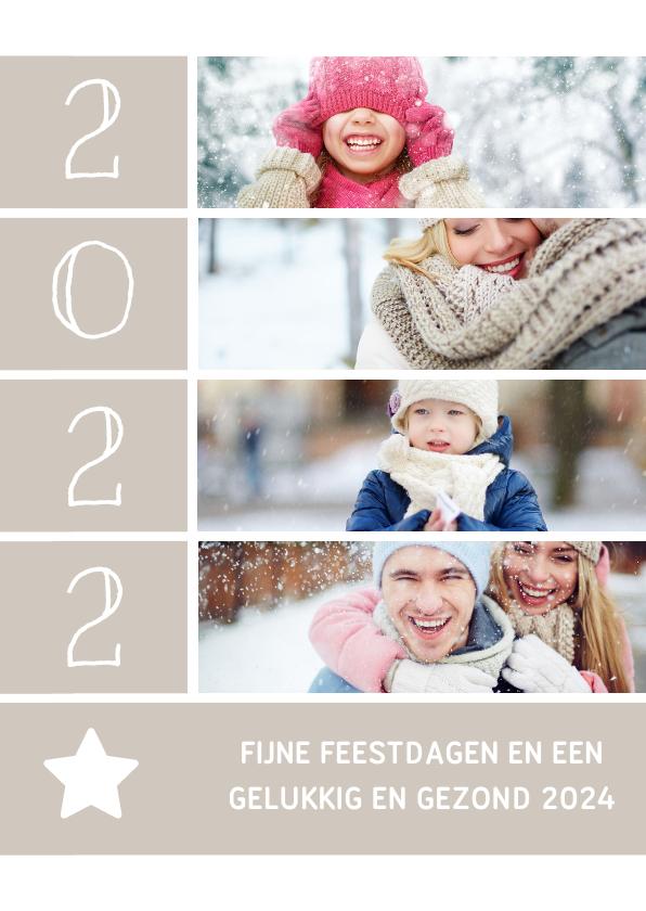 Fotokaarten - Fotokaart met foto's, ster en jaartal