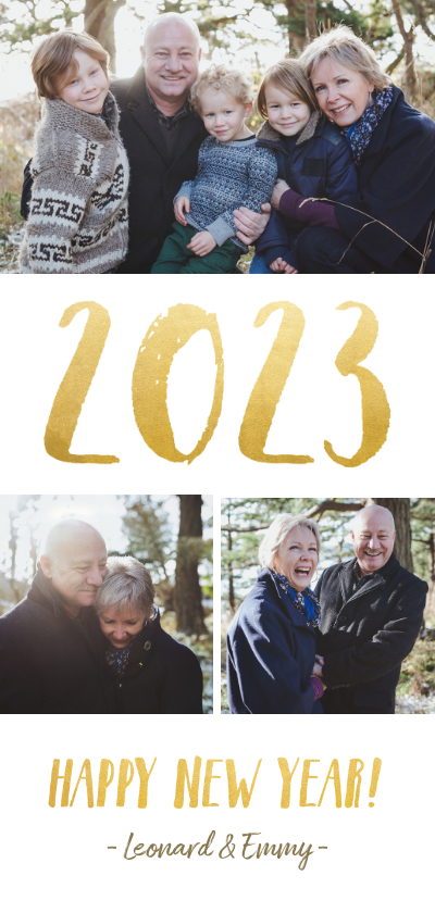 Fotokaarten - fotokaart nieuwjaars met fotocollage en jaartal 2022