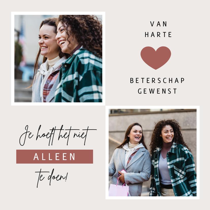 Fotokaarten - Fotokaart persoonlijke foto vriendschap ik denk aan je