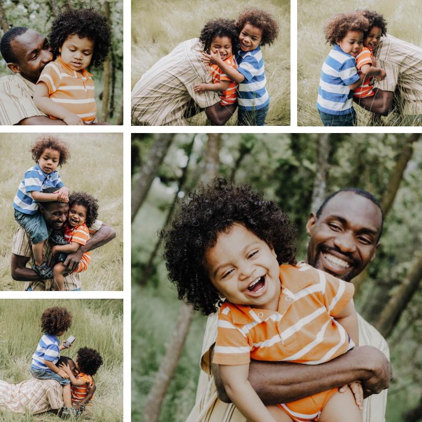 Fotokaarten - Fotokaart vierkant met collage van 6 foto's