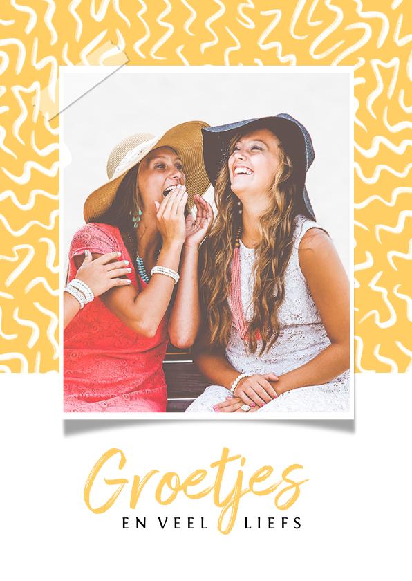 Fotokaarten - Fotokaart voor vriendin met vrolijke achtergrond