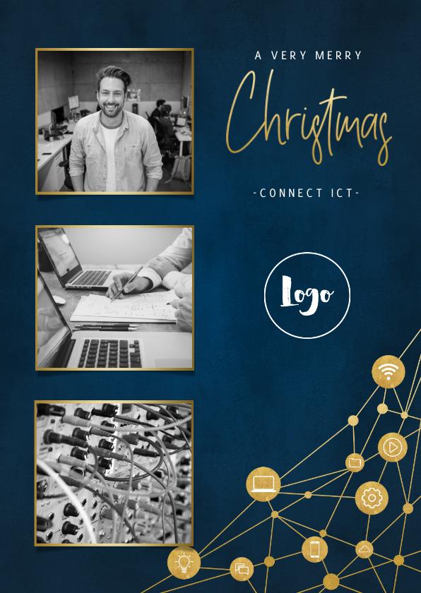Fotokaarten - Fotokaart zakelijk met iconen, foto's en typografie