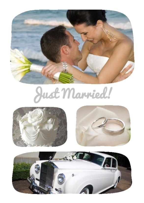 Trouwkaarten - Just Married! - BK